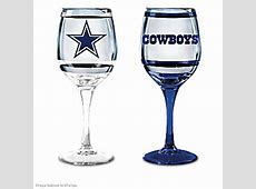 NFL Dallas Cowboys Wine Glass Collection: Set Of Two Stem