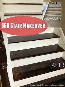 60 Stair Makeover Including Replacing Treads