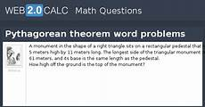 view question pythagorean theorem word problems