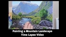 mt talbot landscape painting time lapse