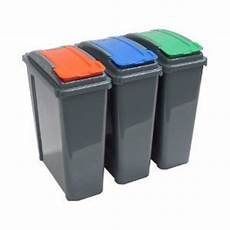 Recycle Kitchen Electronics by Pack Of Three 25 Litre Recycling Bins Co Uk