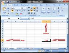 ms excel work sheet rows columns and cells javatpoint