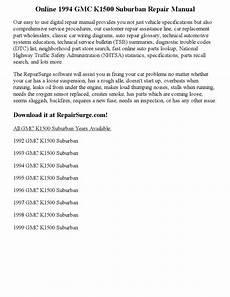 auto repair manual free download 1994 chevrolet suburban 2500 transmission control 1994 gmc k1500 suburban repair manual online by robertjames smith issuu
