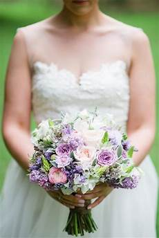 purple pink spring bridal bouquet recipe aisle society