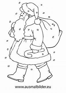 ausmalbilder weihnachtsmann mit geschenksack