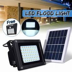 waterproof ip65 54 led sensor solar light 3528 solar panel led flood light floodlight outdoor