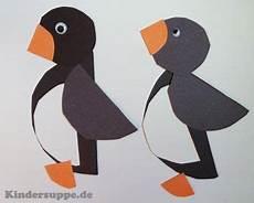Bastelvorlage Pinguin Papier - kreis pinguine basteln mit formen kindergarten basteln