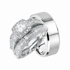 laraso co his and hers wedding ring set matching wedding bands for him and her 5 8