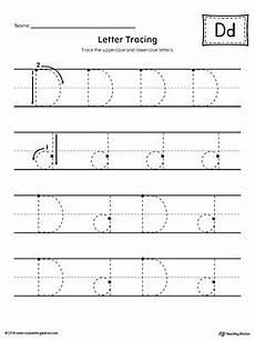letter tracing worksheets template 23937 letter d tracing printable worksheet myteachingstation