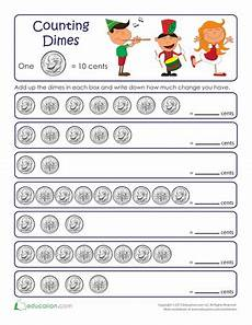 skip counting money worksheets 11954 counting by tens dimes counting dimes worksheet money worksheets