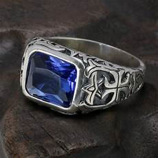 real 925 sterling silver rings for blue