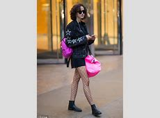 Bella Hadid wears plunging denim jumpsuit at Victoria's