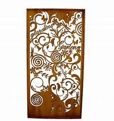 Garten Paravent Metall - edelrost garten paravent 200 x 100 cm rostdeko vom metallmichl