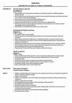 medical biller resume sles velvet