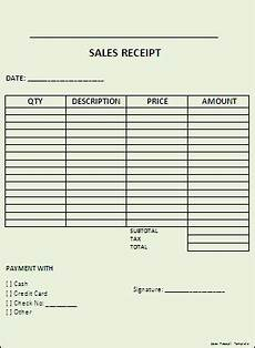 sales receipt template professional word templates