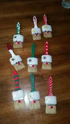 Weihnachten Basteln Grundschule - santa paint brush craft guides crafts