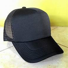 jual topi trucker hitam polos deelap ngelz shop