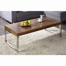 Table Basse Rectangle En Metal Et Bois Comforium