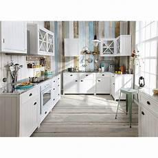 meuble de cuisine maison du monde meuble bas de cuisine en pin blanc l120 newport maisons