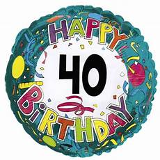 folienballon deko 40 geburtstag t 252 rkis bunt luftballons
