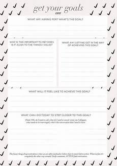 free printable goal sheets popsugar australia smart living