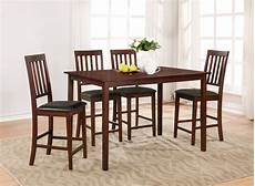 essential home cayman 5 piece high top dining