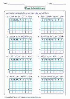 place value addition and subtraction worksheets 5652 adding large numbers worksheets