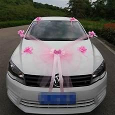deco voiture mariee kit de d 233 coration pour voiture mariage luxe blanc