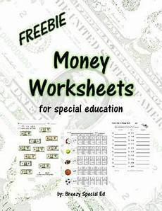 money worksheets special education 2325 money math worksheets freebie for special education by breezy special ed