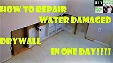 nasse wand trocknen how to repair water damaged drywall in one day