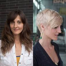 dramatic long hair cut short makeover by christopher dramatic makeover for a career and life transformation thin hair haircuts long to short hair