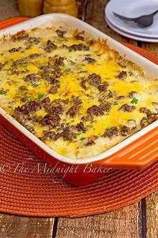 Hackfleisch Kartoffel Auflauf - cheesy beef potatoes casserole the midnight baker