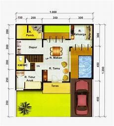 Denah Rumah Minimalis 2 Lantai Tipe 70 120