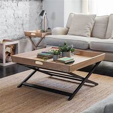 garden trading butlers square coffee table oak black by design