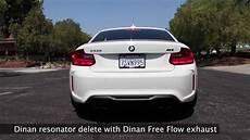 dinan m2 free flow exhaust w resonator delete sound clip youtube