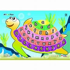 Jual Kidzntoys Puzzle Stiker Alphabet Angka Kura Kura