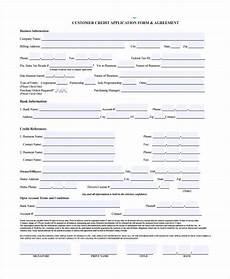 free 15 credit application form templates pdf
