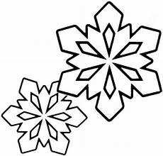 ausmalbild zwei kleine schneeflocken ausmalbilder