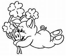 Silvester Malvorlagen Tiere Gluecksschwein Mit Hufeisen Als Ausmalbild Ausmalbilder