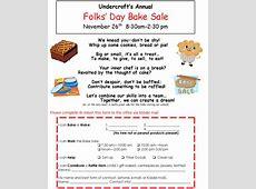 Folks' Day Bake Sale Flyer 2013   Bake sale flyer, Sale