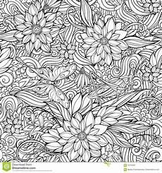 Ausmalbilder Blumen Schmetterlinge Coloring Page With Seamless Pattern Of Flowers
