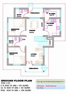 plans of houses kerala style kerala home plan and elevation 1300 sq feet home