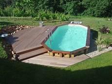 piscine bois octogonale semi enterrée piscine bois octogonale acheter une piscine avec