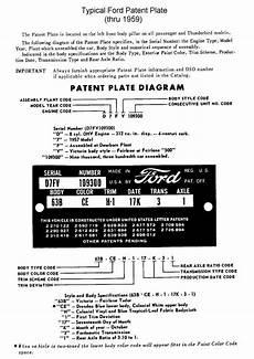 Ford Australia Vin Decoder Chart 1949 To 1953 Ford Passenger Car Vin Decoding Chart
