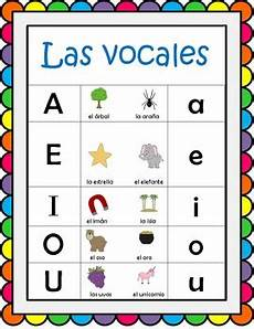 spanish vowel sounds worksheets vocales poster spanish vowels poster by everything s coming up rosie
