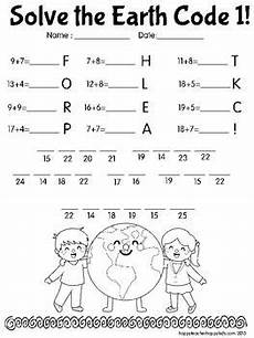 earth day math codes free earth day pinterest facts math and reading