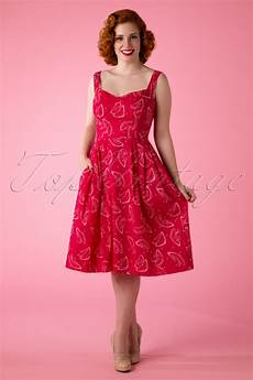 Dress Valerie 50s valerie dress in pink with watermelons