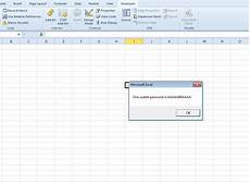 unprotect an excel sheet without password poison world