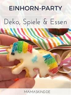 regenbogen einhorn geburtstag deko spiele kuchen
