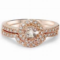 1ct morganite diamond engagement ring 14k rose gold ebay